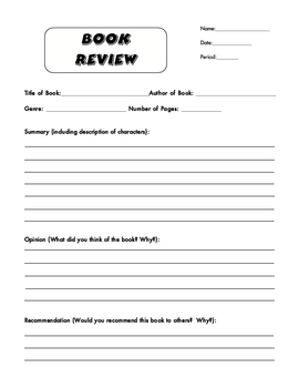 Writing a book review elementary students