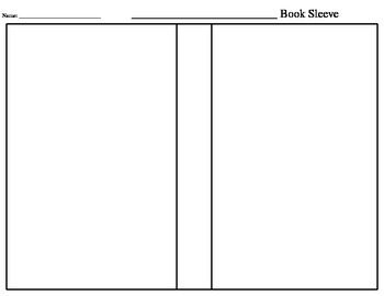 Blank Book Sleeve Template