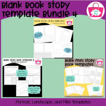 Blank Book Template Bundle for Story & Writer's Workshop 4 (Idea Bag)
