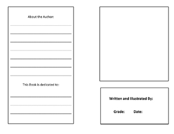 Blank Books for students to create