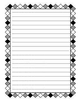 Blank Borders / Writing Frames