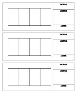 Blank Box Method Sheet