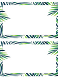 Blank Boxes with Tropical Leaf Borders