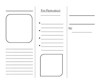Blank Brochure Template Teaching Resources Teachers Pay Teachers - Blank brochure template