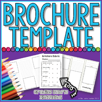 BROCHURE TEMPLATE By The Techie Teacher Teachers Pay Teachers - Teacher brochure template