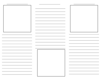 Blank Brochure Template For Student Projects By Third Times A - Teacher brochure template