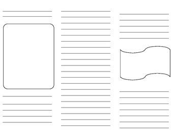 Blank Brochure Template Blank Brochure Template