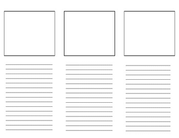 Blank Brochure Template for Student Projects by Third Time's a Charm