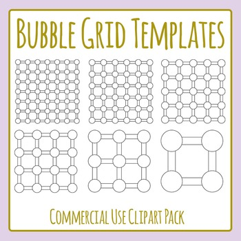 Blank Bubble Grids Find the Path Template Clip Art for Commercial Use