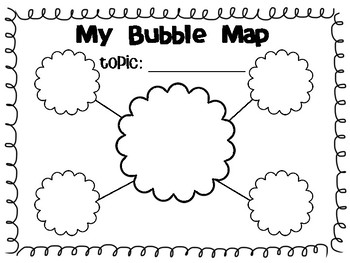 Bubble Map Template Blank Bubble Map Template by Elizabeth Mullen | Teachers Pay Teachers