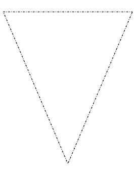 Blank Bulletin Board Pennant Perfect for Decorating Your Classroom!
