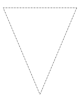 Blank Bulletin Board Pennant Perfect for Decorating Your C