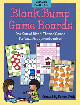 Bump Game Templates-1 Year of Blank, Themed Games For Small Groups & Centers