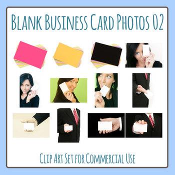 Blank Business Card Photos Photographic Clip Art Set