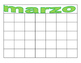 Blank Caiendar with Months in Spanish