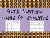 Blank Calendar August to July