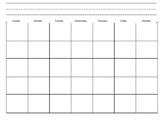 Blank Calendar, Daily Calendar Journal