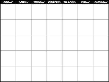 Blank Calendar FREEBIE