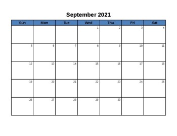 Blank Calendar - June 2018 - June 2019 - EDITABLE