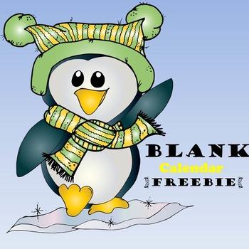 Blank Calendar {Freebie}
