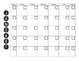 Blank Calendar Pages (B&W)