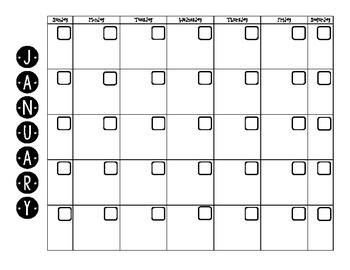 blank calendar pages b w by stacy romanjuk teachers pay teachers