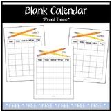 Blank Calendar - Pencil Theme