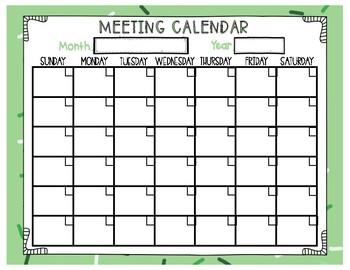 Blank Calendar Set