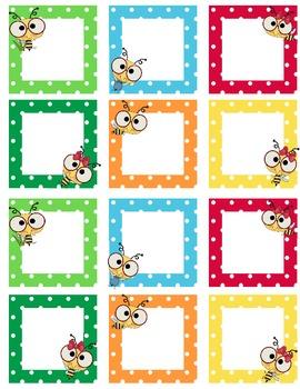 Blank Calendar Squares Bee Theme