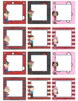 Blank Calendar Squares - Pirate Kids Theme
