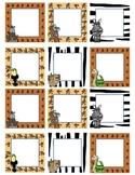 Blank Calendar Squares - Safari Theme