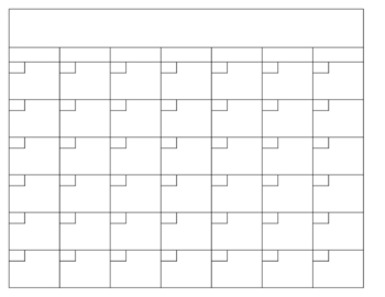 Blank Calendar Template By The World Of Mrs B Tpt