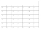 Blank Calendar template in Excel