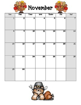 Blank Calendars 2015-2016