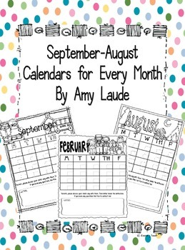 Blank Calendars For All 12 Months