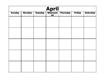Blank Calendars - Print