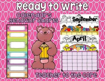 Blank Calendars and Behavior Charts