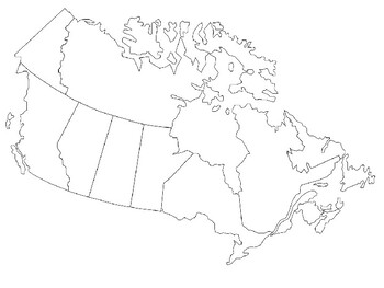 Blank Canada Map Blank Canada Map by Steven's Social Studies | Teachers Pay Teachers