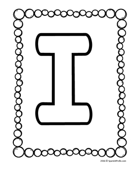 Blank Capital Alphabet Letter Pages (includes Spanish letters)