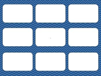 Blank Card Game - Blue