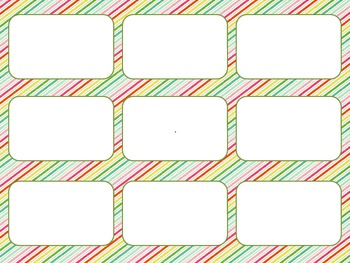 Blank Card Game - Candy Stripe