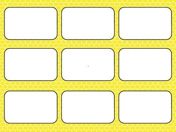 Blank Card Game - Yellow