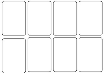 Blank Card game template by Persha Darling | Teachers Pay Teachers