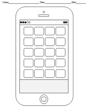 graphic relating to Printable Phone named Blank Cellular Telephone Templates (4 templates)