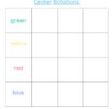 Blank Center Rotation Chart