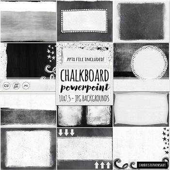 PowerPoint Background, Blank Chalkboard Powerpoint Template, Ready made Slide