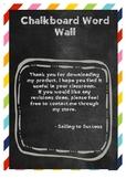 Blank Chalkboard Word Wall