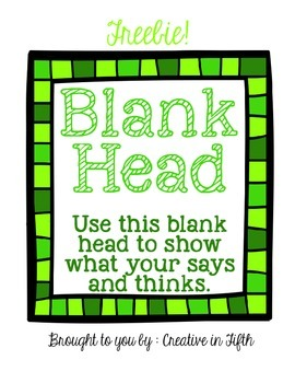 Blank Character Head-- Freebie!