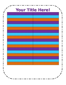 Blank Chart Template in fun colors (2)
