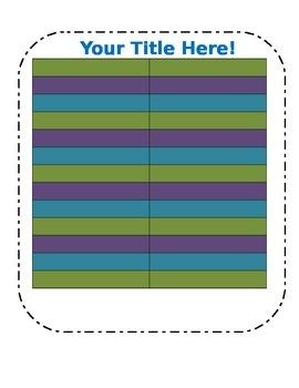 Blank Chart Template in fun colors (3)